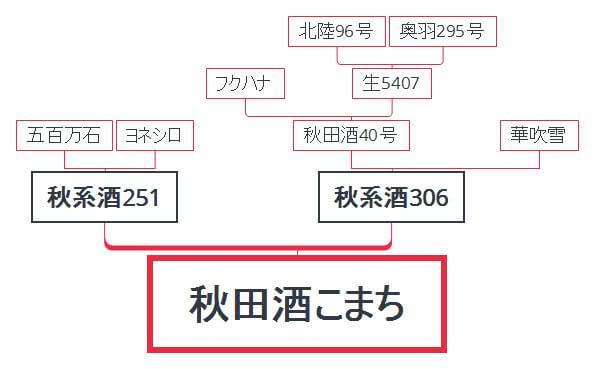 秋田酒こまちの系譜図
